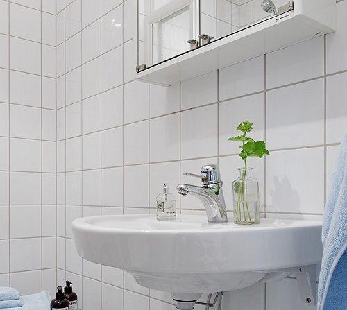 Lavabo en colores blancos