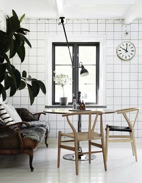 Rincón de apartamento nórdico