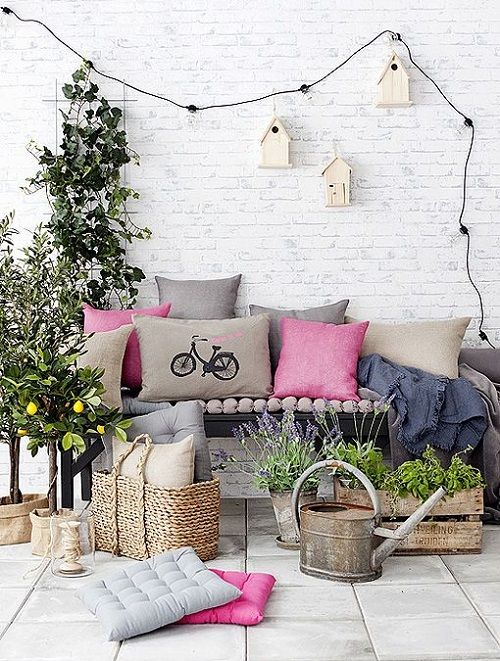 Terraza con iluminación DIY