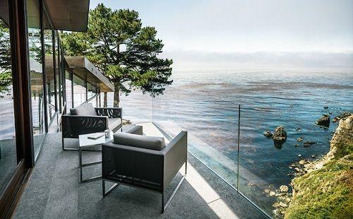 Vistas desde el hogar sobre el mar