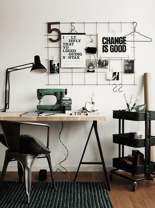 espacio de trabajo diseño de moda