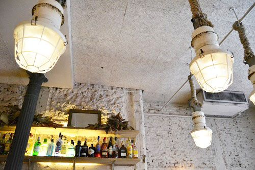 lámparas de la barra