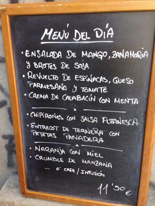 menú de maricastaña