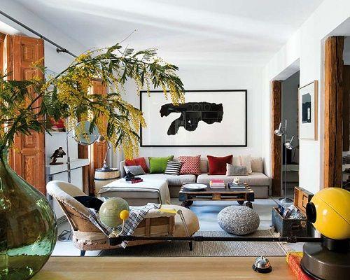 Apartamento colorido en Malasaña