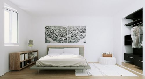 Scandinavian-Apartment-natural-wood-and-monochrome-bedroom-600x330
