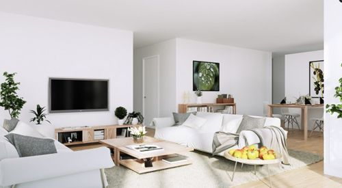 Scandinavian-Apartment-white-living-entertainment-with-organic-green-and-wooden-accents-600x330