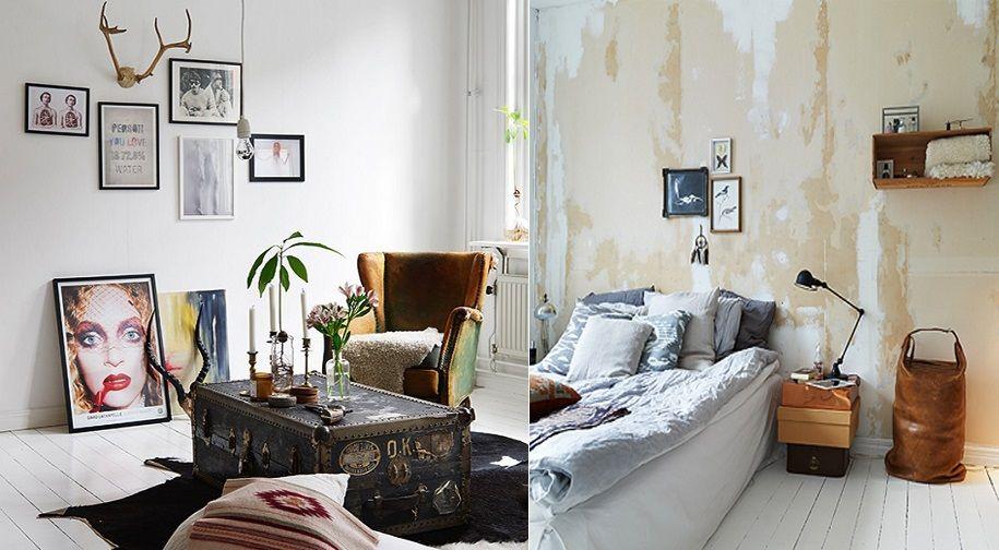 Apartamento bohemio con decoración escandinava errante