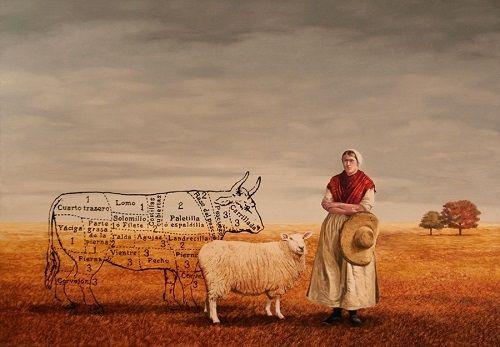 oveja y señora