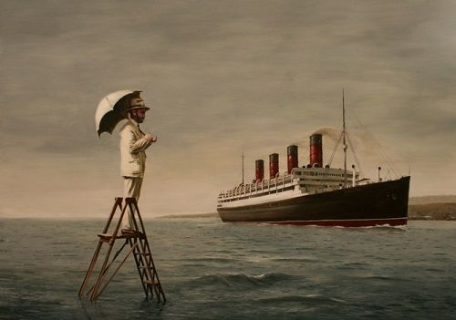 paraguas y titanic