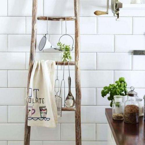 cocina con escalera
