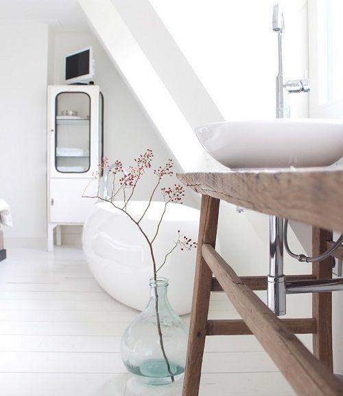 Baño rústico nórdico