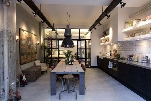 Cocina con muebles de diseño
