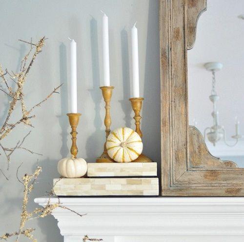 Detalles decorativos del otoño