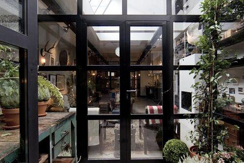 Invernadero integrado en la casa