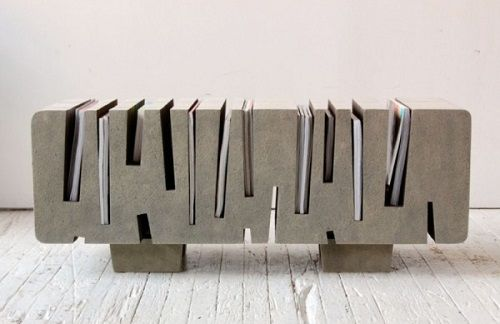 Mesa arquitectónica en gris para revistas