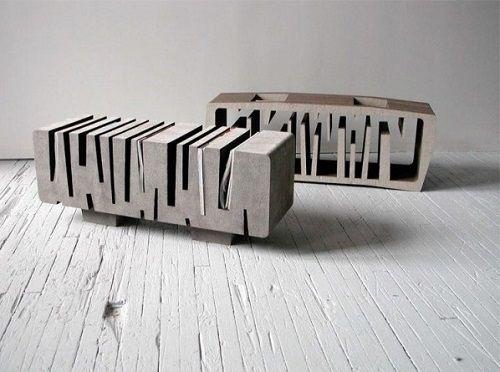 Mesa arquitectónica en gris