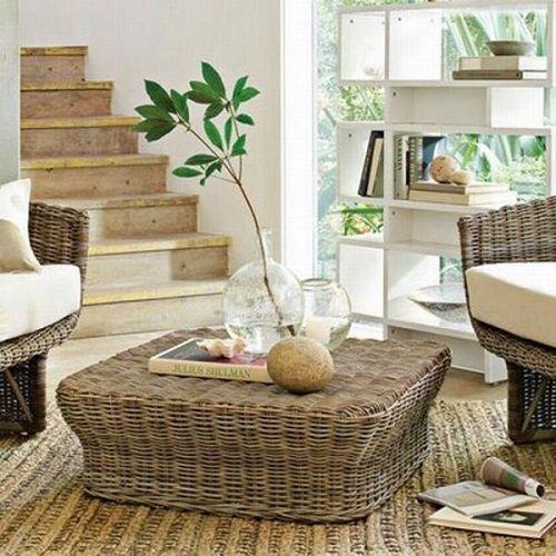 Decoraci n con mesas de caf originales moove magazine - Mesas de mimbre ...
