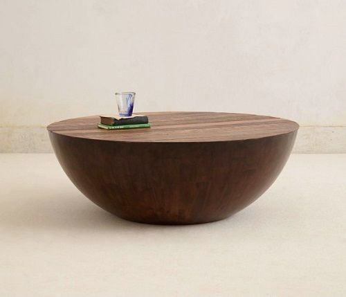 Mesa media esfera de madera
