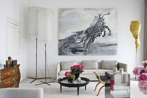 Obra de arte en el salón