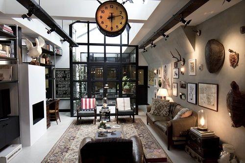 Salón ecléctico vintage
