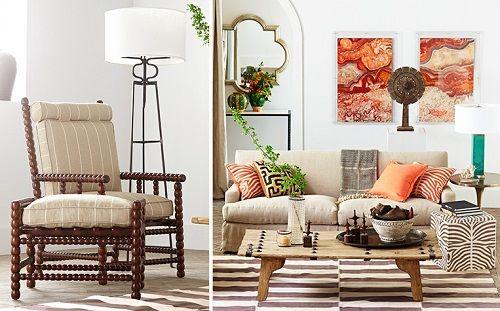 Sala de estar de estética otoñal