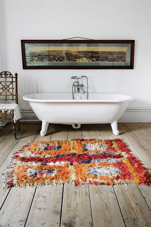 alfombras boucherouite - baño