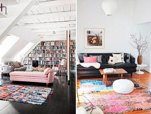 alfombras boucherouite biblioteca y salon