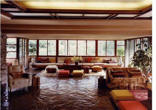casa de la cascada interior