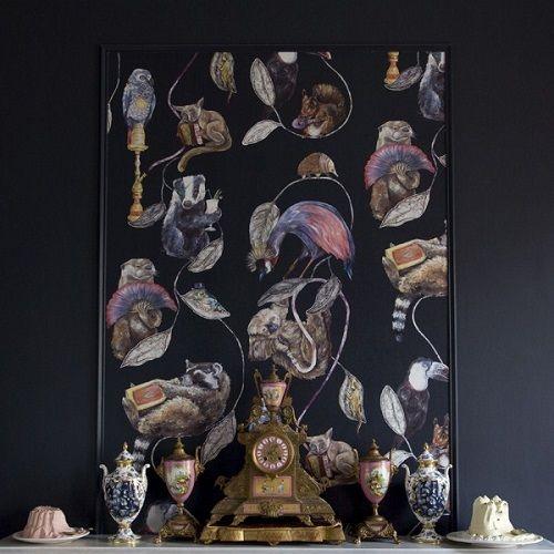 reloj, decoracion y cuadro de animales