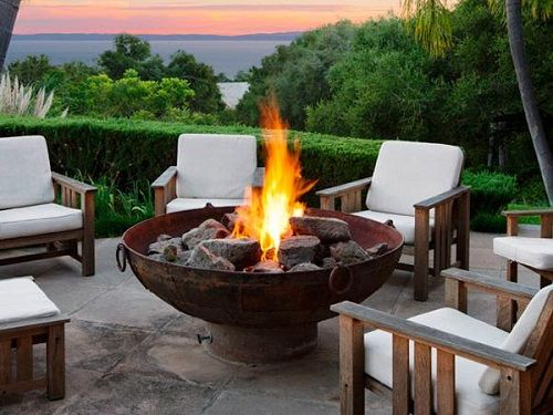 Chimeneas exteriores disfruta de tu terraza en invierno for Chimenea de gas en un piso