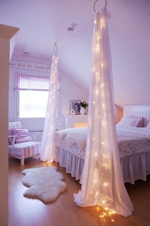 luces navidad en dormitorio