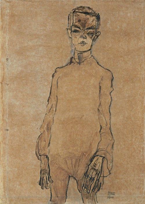 Autorretrato Egon Schiele en el thyssen