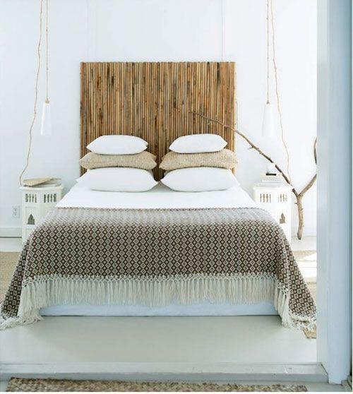 cabecero cama bambu decoracion dormitorios