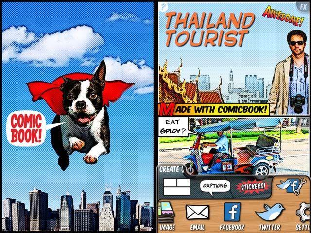 app comic book regalo dia del padre album digital fotografia