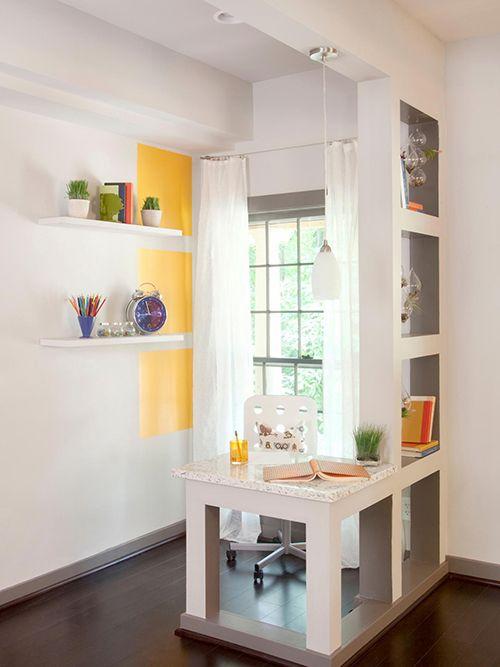 ideas ahorrar espacio pisos pequeños estanterias abiertas luz separar cuartos