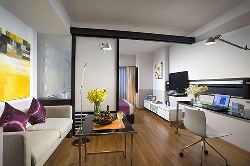 ideas decoracion diseño puertas correderas pisos pequeños