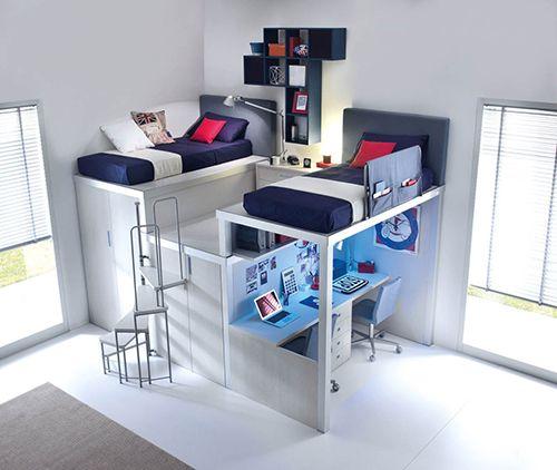 S cale partido al espacio ideas para pisos peque os for Dormitorios con poco espacio