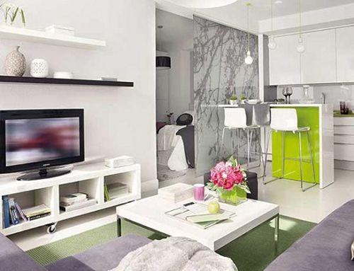 ideas decoracion espacios pequeños ahorrar espacio unica sala separar