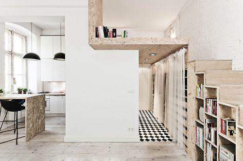 ideas decoracion pisos pequeños estudios ahorrar espacio aprovechamiento doble altura
