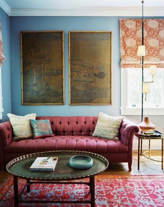 habitacions decoracion marsala tonos turquesa