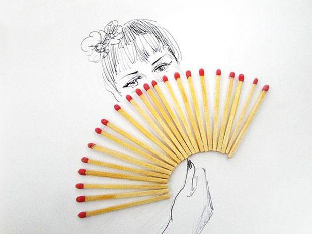 dibujos objetos cotidianos victor nunes