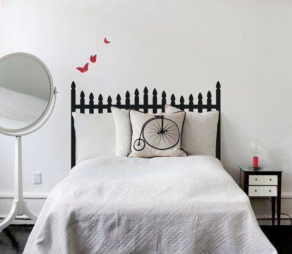 cabecero cama vinilo sticker decoracion dormitorios