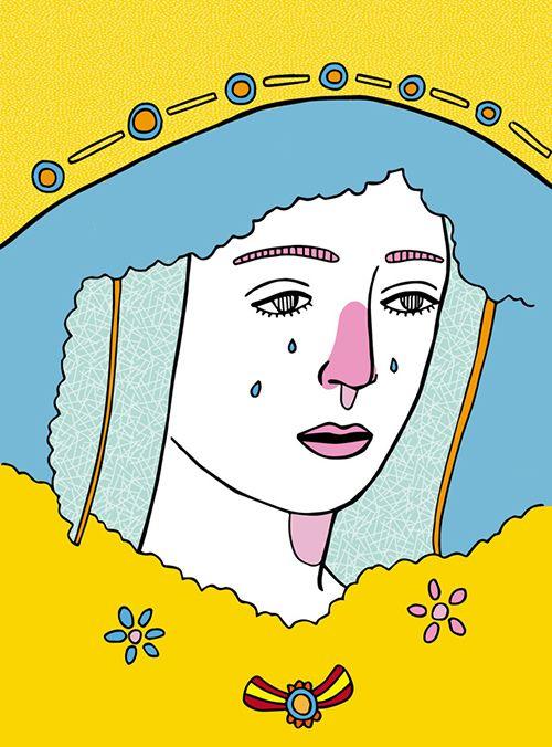 virgen ilustracion pau sanz i vila