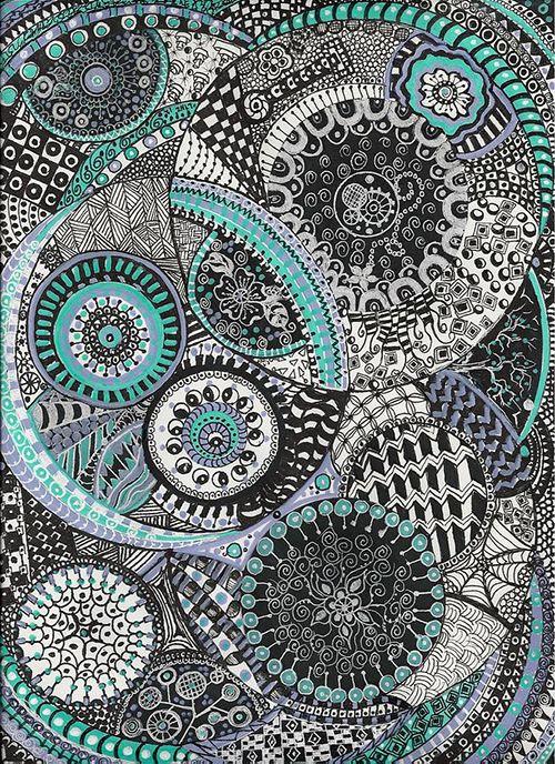 arte zentangle dibujo meditacion