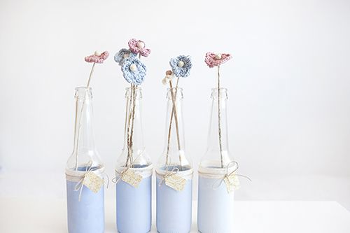 botellas chalk paint vidrio ideas decoracion diy