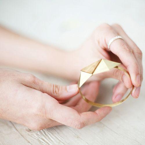brazalete geometrico migayo diseño joyas español independiente
