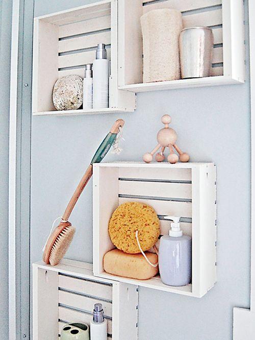 cajas baño estantes decoracion ideas diy
