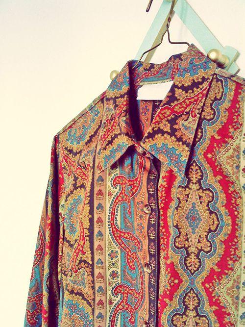 camisa estampada retro moda vintage online facebook vistase señora