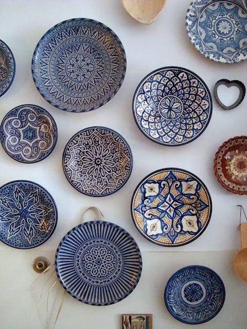 ceramica marroqui motivos arabes platos ideas decoracion