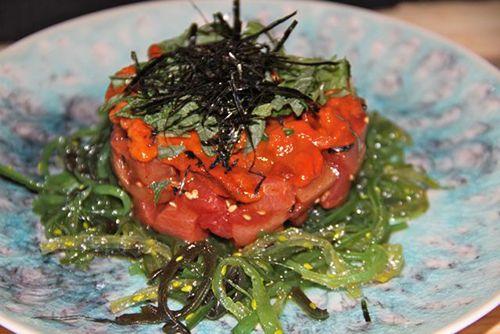 comida yugo the bunker tartar atun rojo restaurante japones madrid